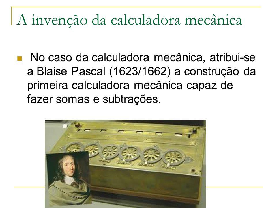 A invenção da calculadora mecânica