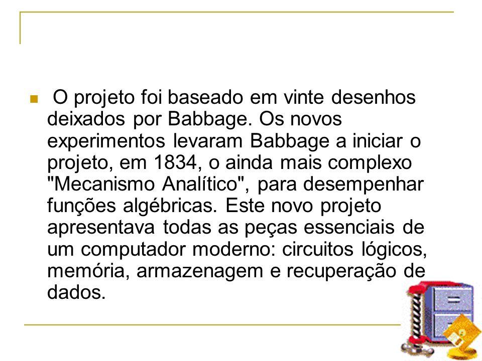 O projeto foi baseado em vinte desenhos deixados por Babbage