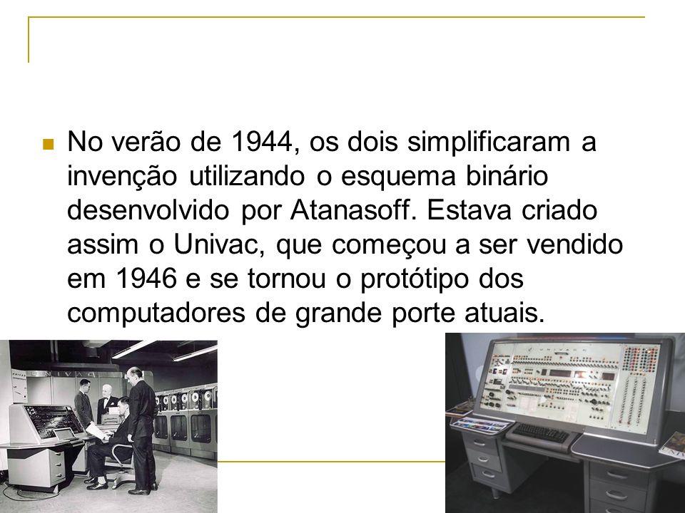 No verão de 1944, os dois simplificaram a invenção utilizando o esquema binário desenvolvido por Atanasoff.