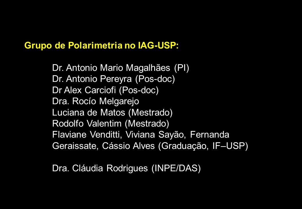 Grupo de Polarimetria no IAG-USP: