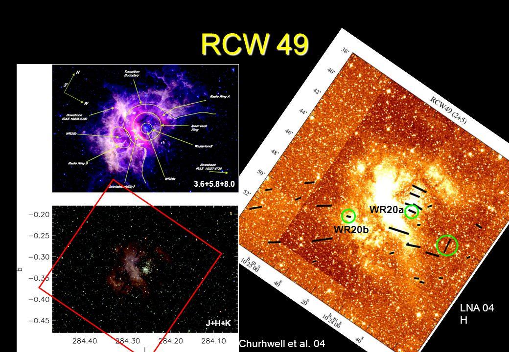 RCW 49 3.6+5.8+8.0 WR20a WR20b LNA 04 H J+H+K Churhwell et al. 04