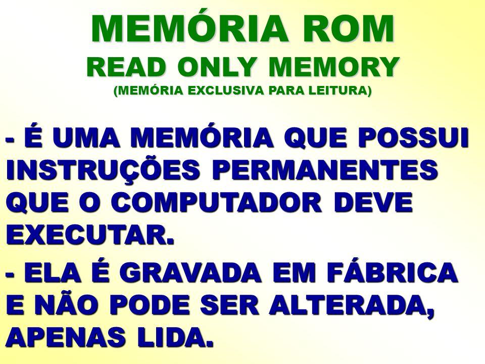 (MEMÓRIA EXCLUSIVA PARA LEITURA)