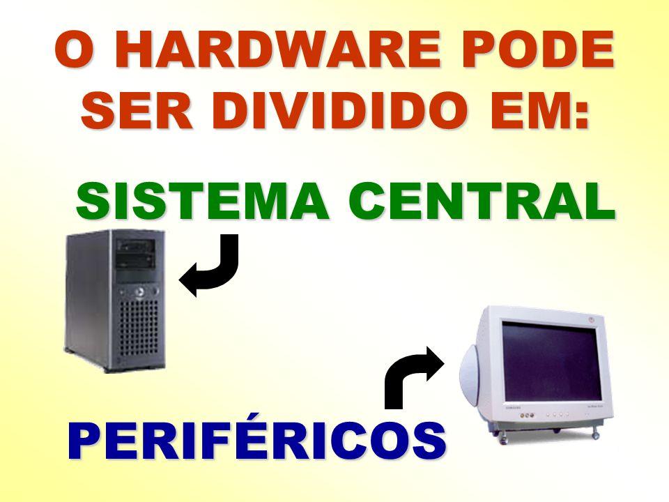 O HARDWARE PODE SER DIVIDIDO EM: