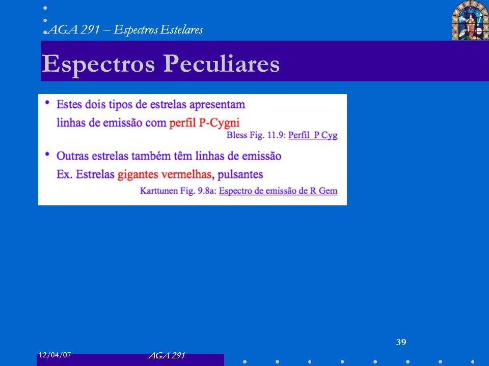 Espectros Peculiares 39