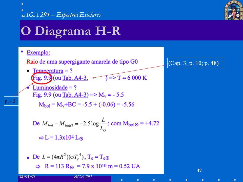 O Diagrama H-R (Cap. 3, p. 10; p. 48) p. 43