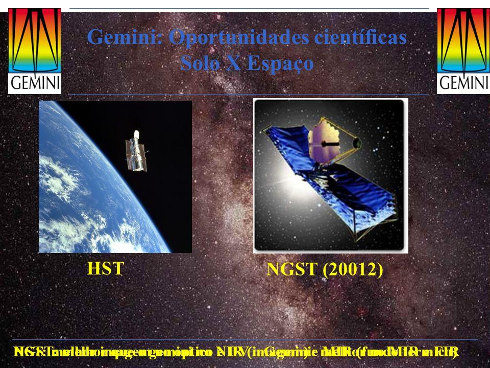 Gemini: Oportunidades científicas Solo X Espaço