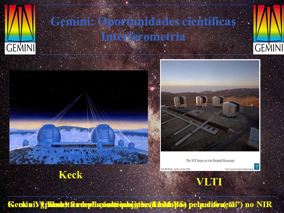 Gemini: Oportunidades científicas Interferometria