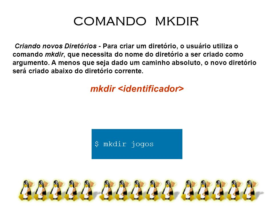 mkdir <identificador>