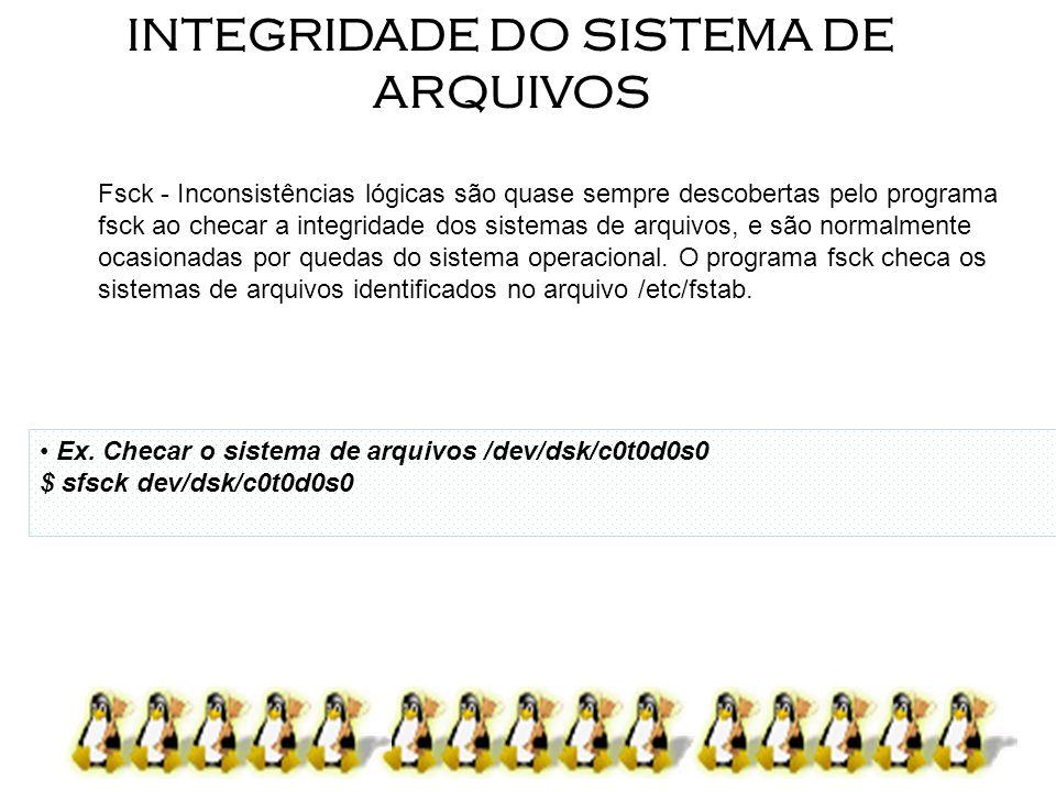 INTEGRIDADE DO SISTEMA DE ARQUIVOS