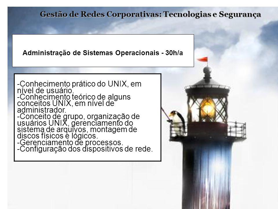 Administração de Sistemas Operacionais - 30h/a