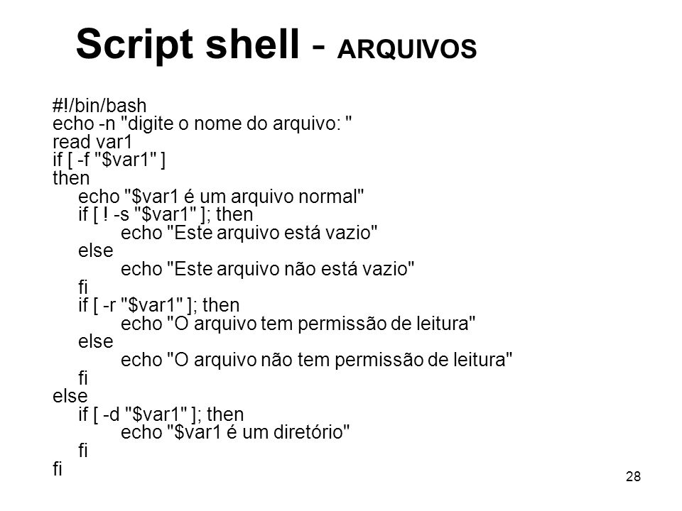Script shell - ARQUIVOS