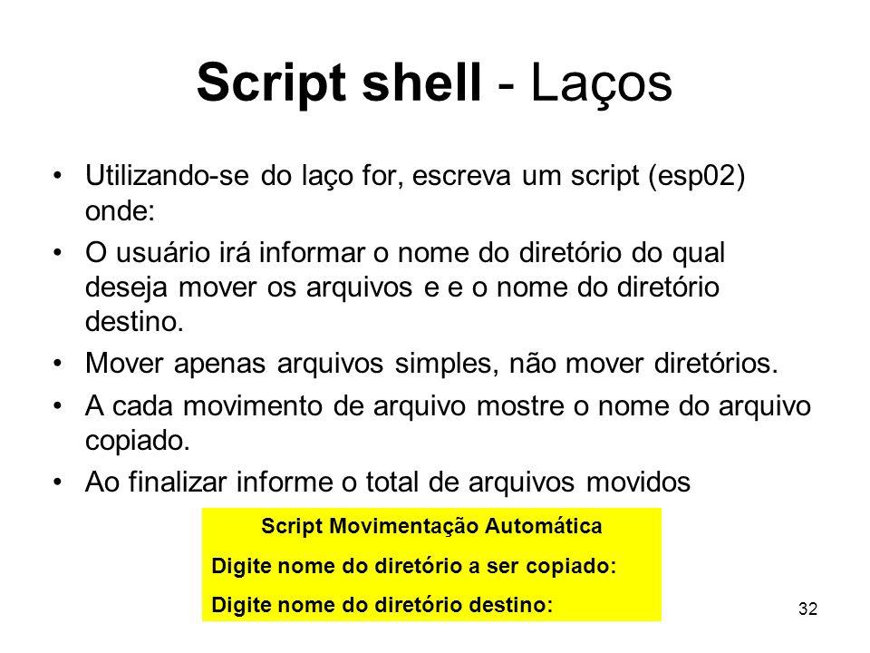 Script Movimentação Automática