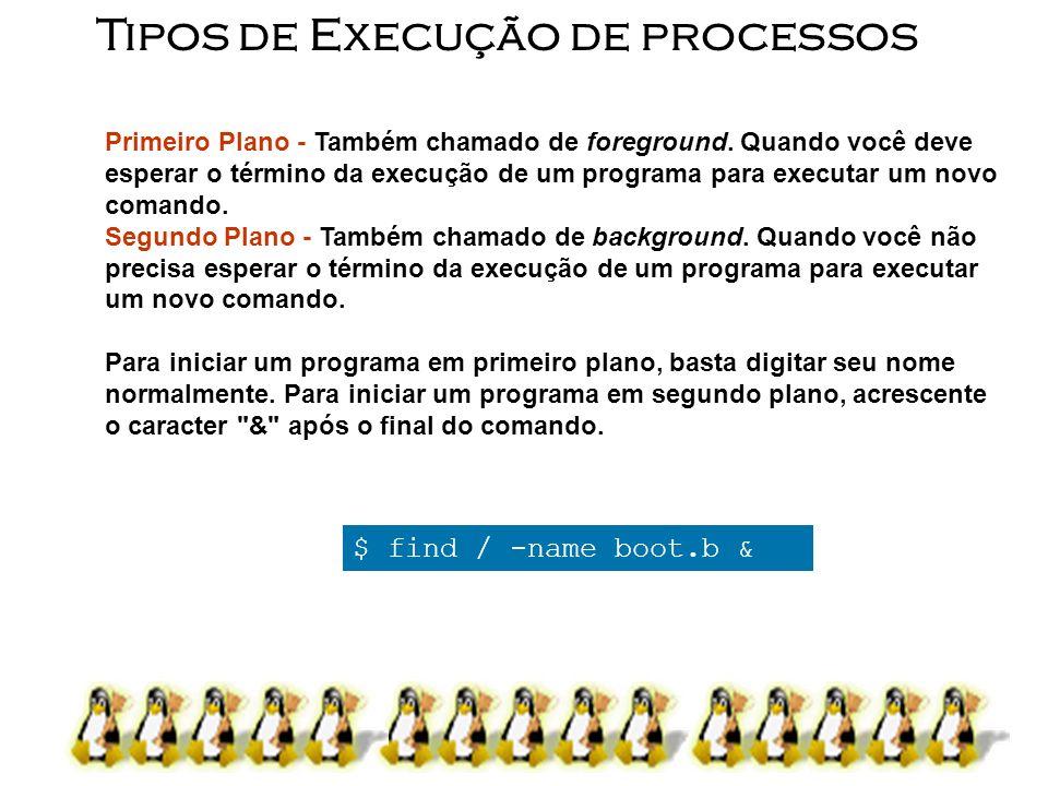 Tipos de Execução de processos
