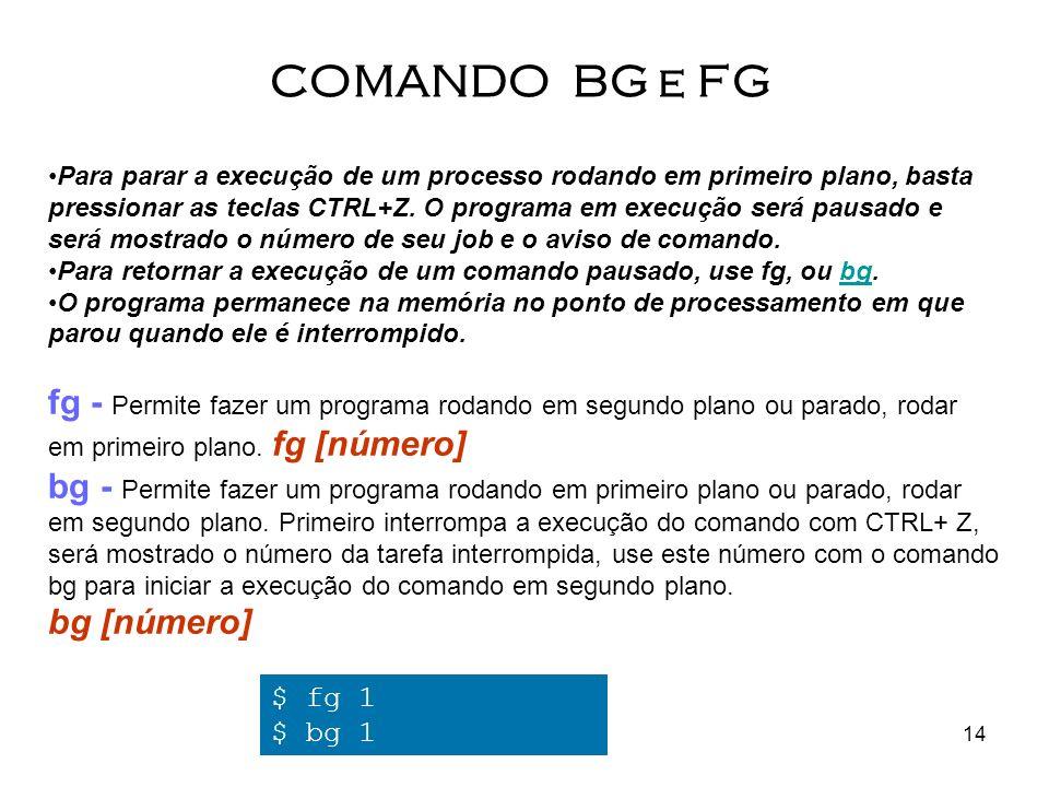 COMANDO BG e FG