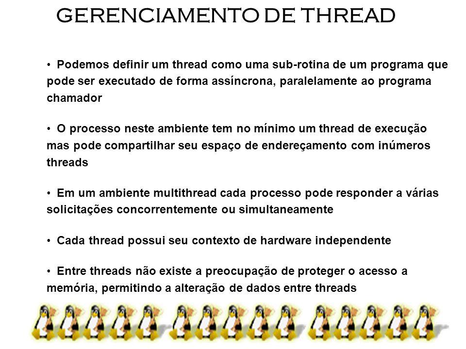 GERENCIAMENTO DE THREAD