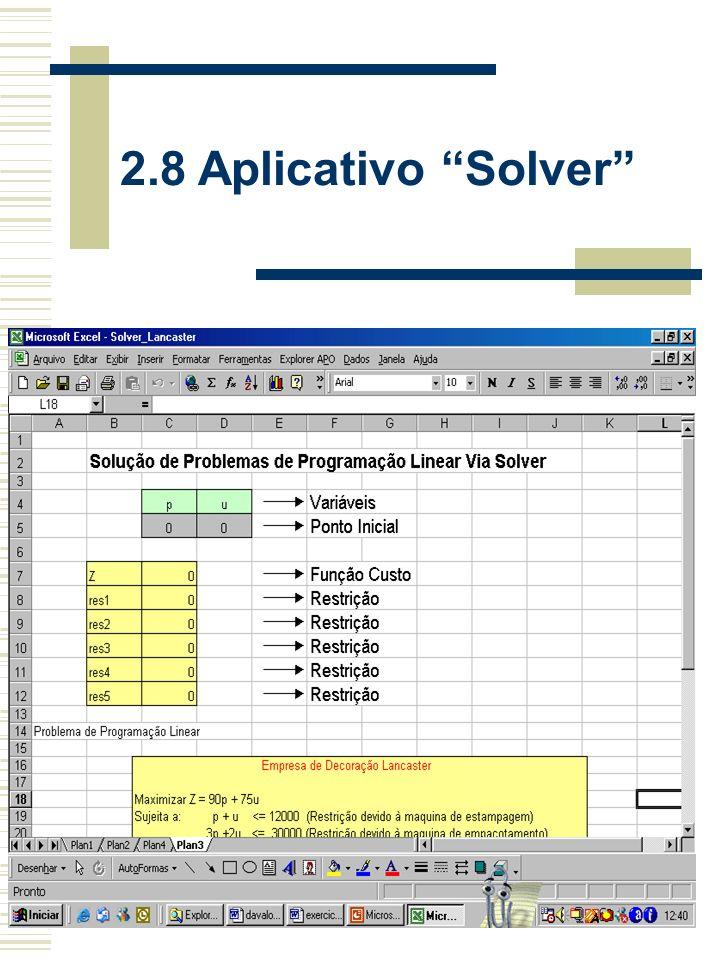 2.8 Aplicativo Solver