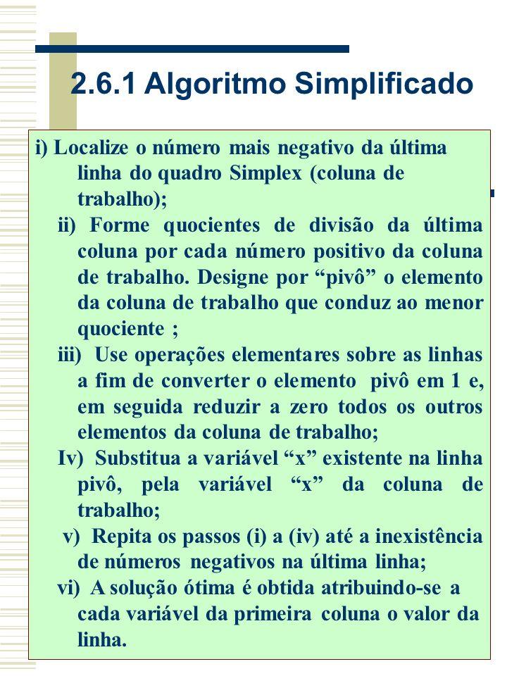 2.6.1 Algoritmo Simplificado