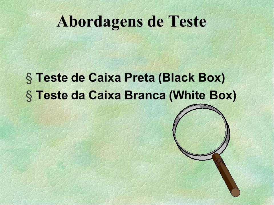 Abordagens de Teste Teste de Caixa Preta (Black Box)