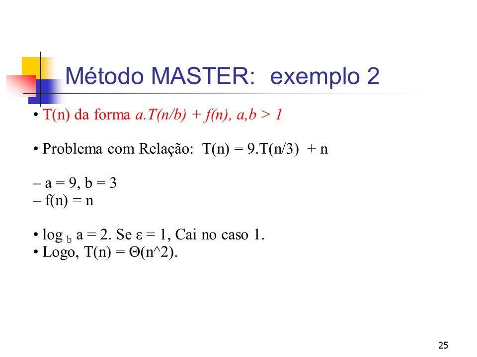 Método MASTER: exemplo 2