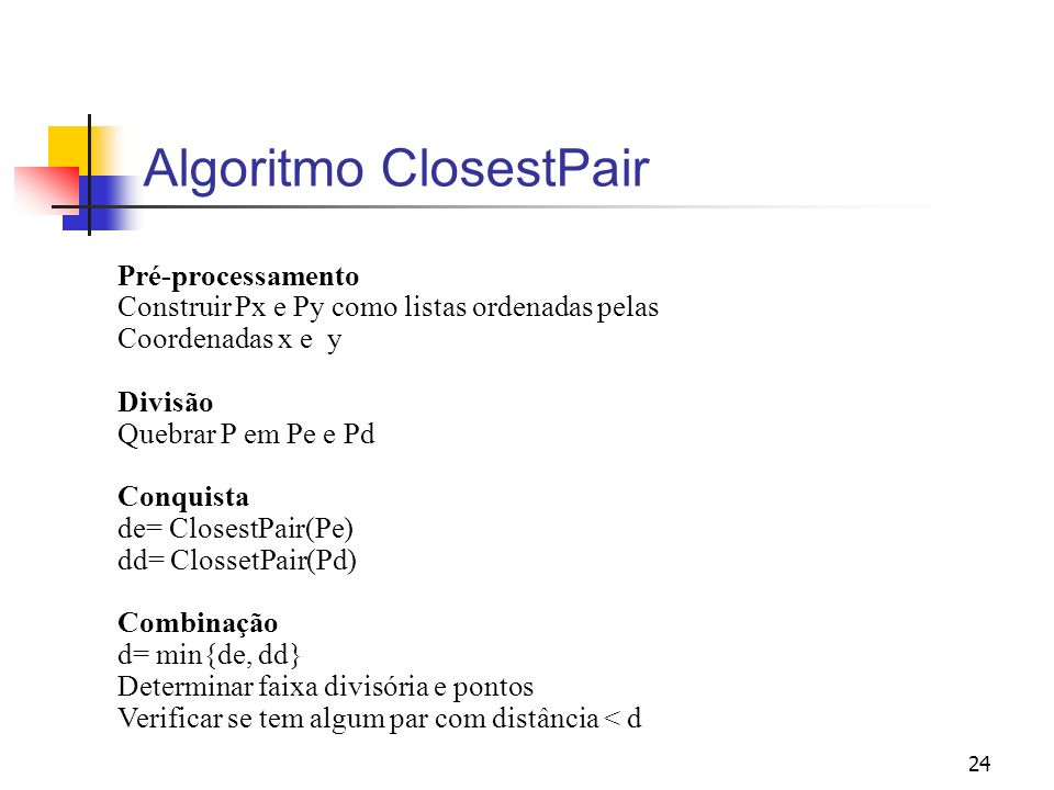 Algoritmo ClosestPair