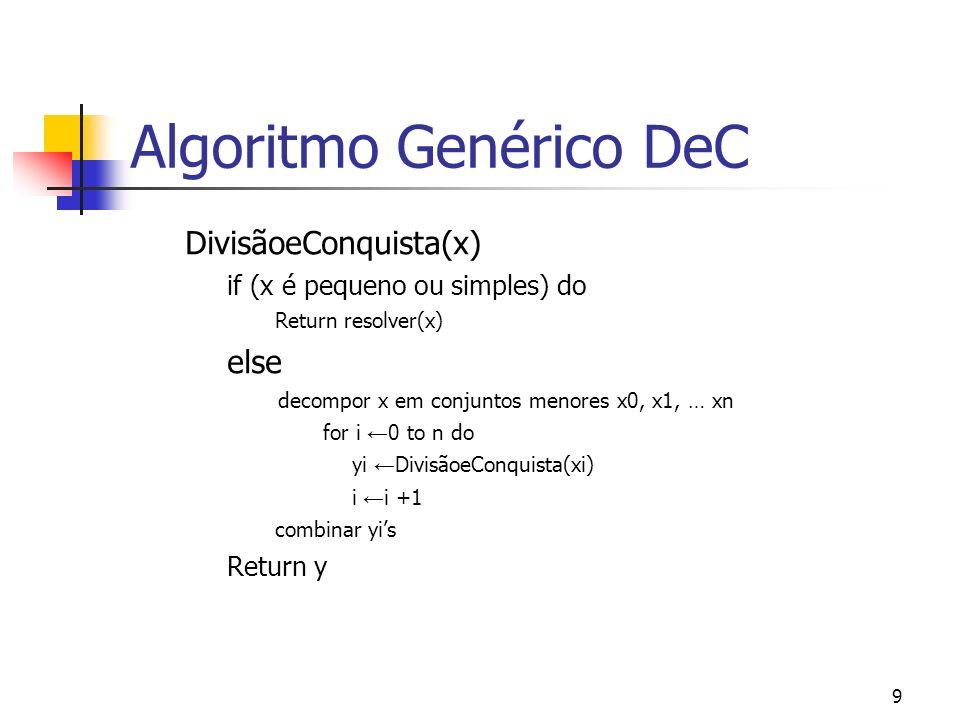 Algoritmo Genérico DeC