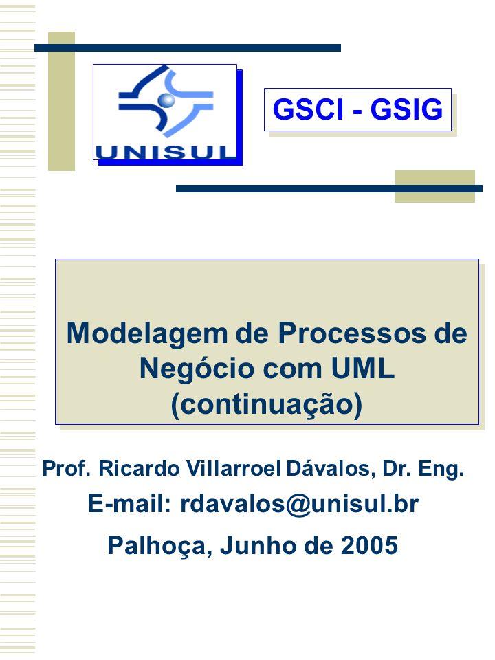 GSCI - GSIG Modelagem de Processos de Negócio com UML (continuação)