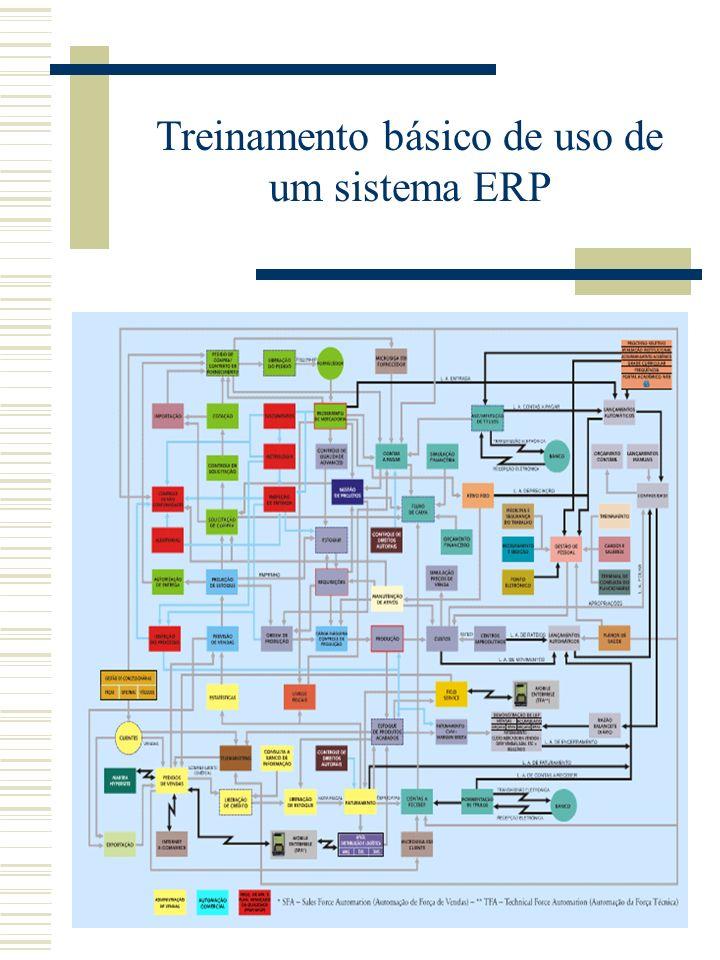 Treinamento básico de uso de um sistema ERP