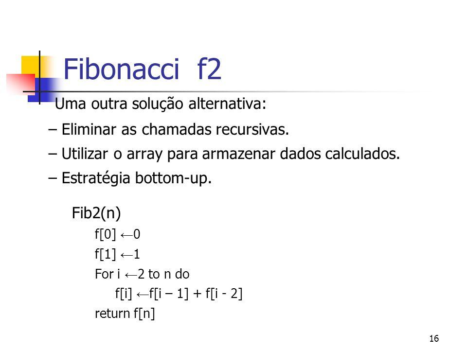 Fibonacci f2 Uma outra solução alternativa: