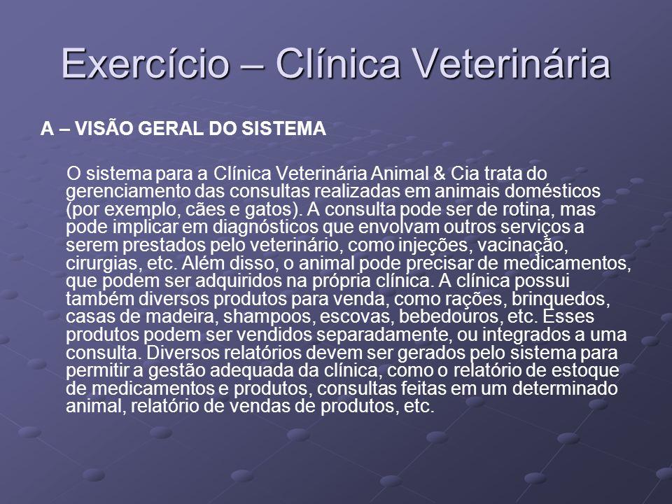 Exercício – Clínica Veterinária