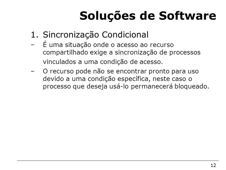 Soluções de Software Sincronização Condicional