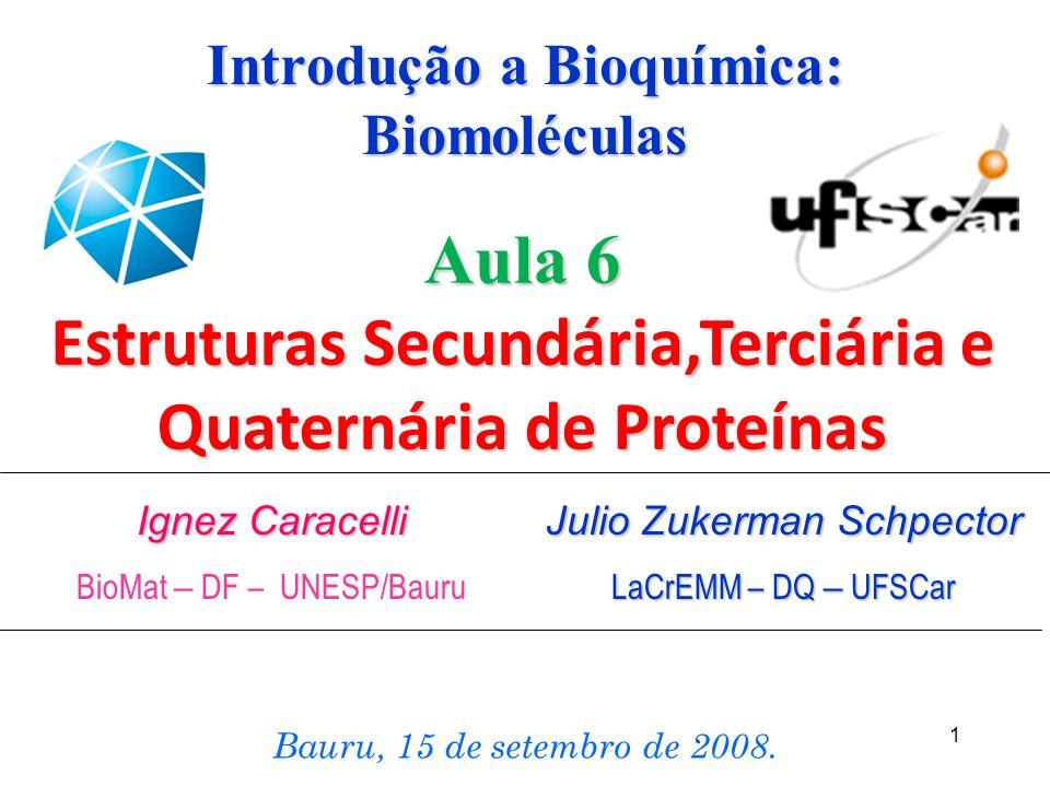 Introdução a Bioquímica: Biomoléculas