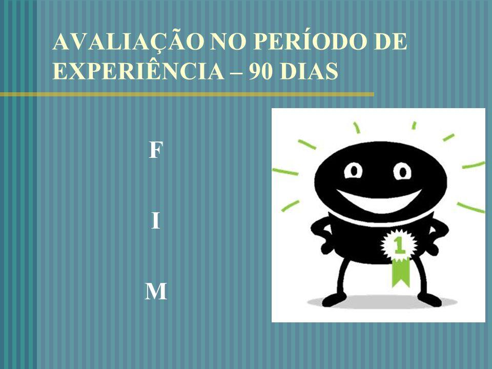 AVALIAÇÃO NO PERÍODO DE EXPERIÊNCIA – 90 DIAS