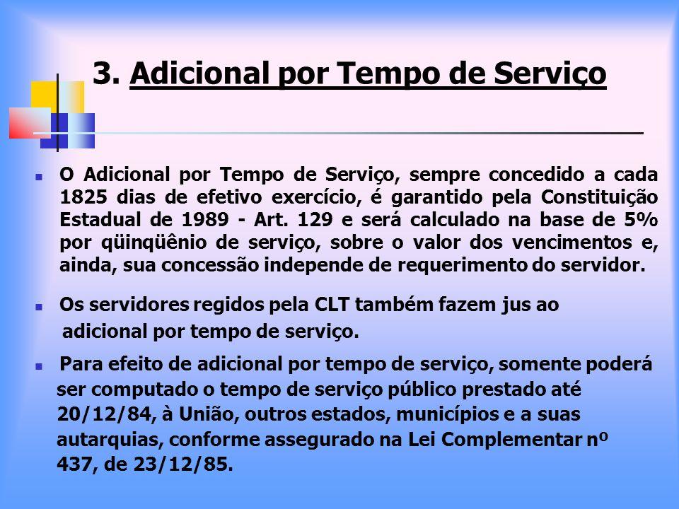 3. Adicional por Tempo de Serviço