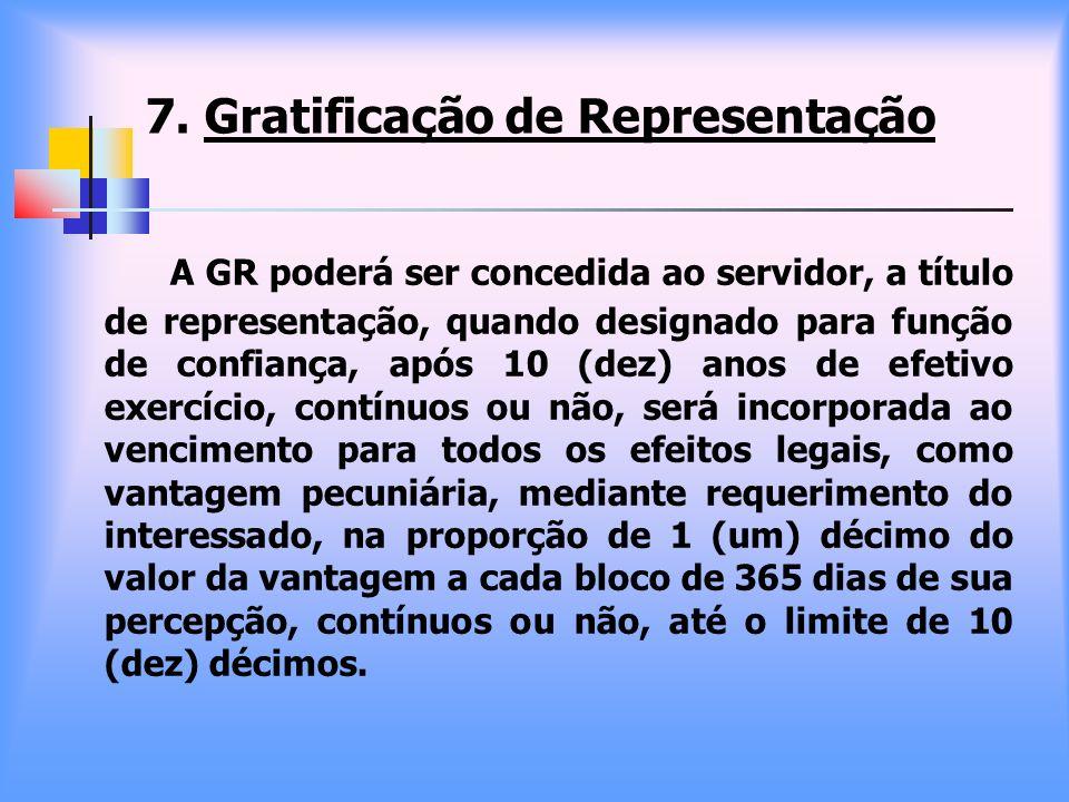 7. Gratificação de Representação