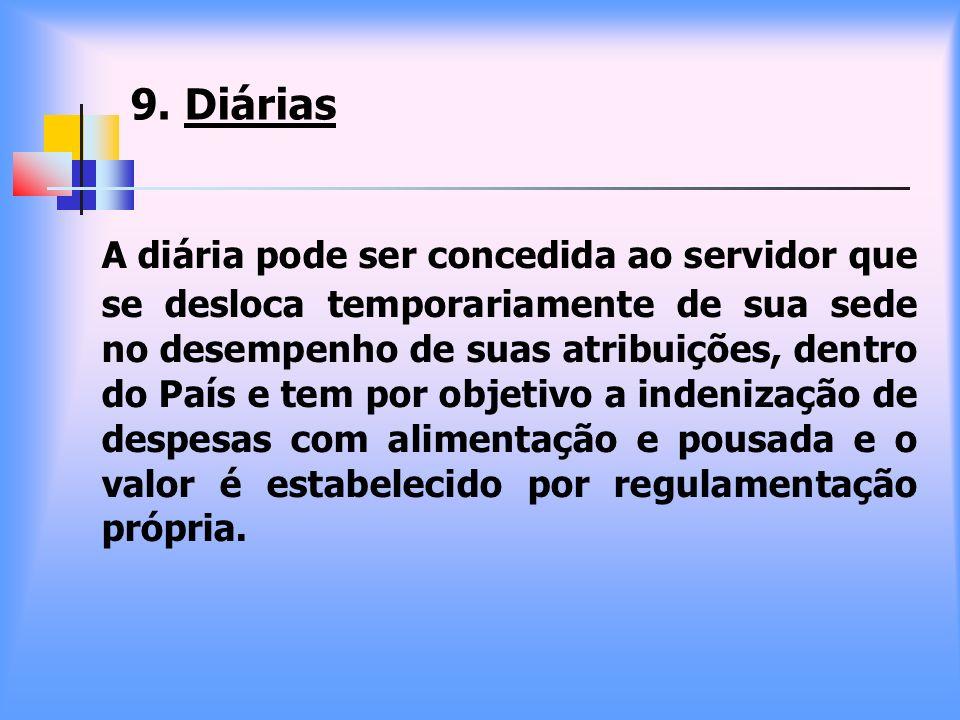 9. Diárias