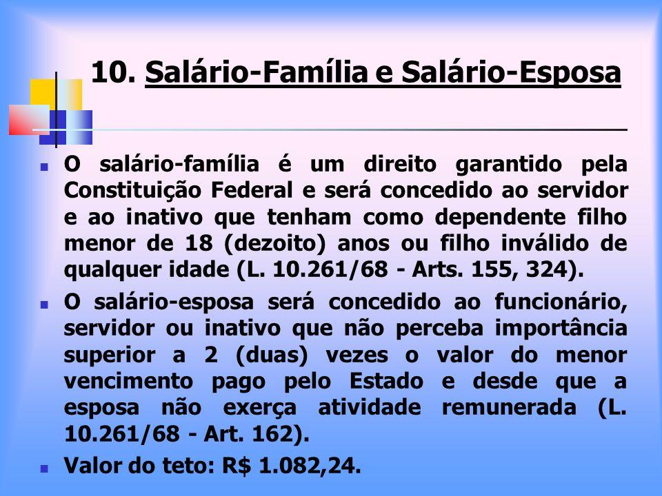 10. Salário-Família e Salário-Esposa