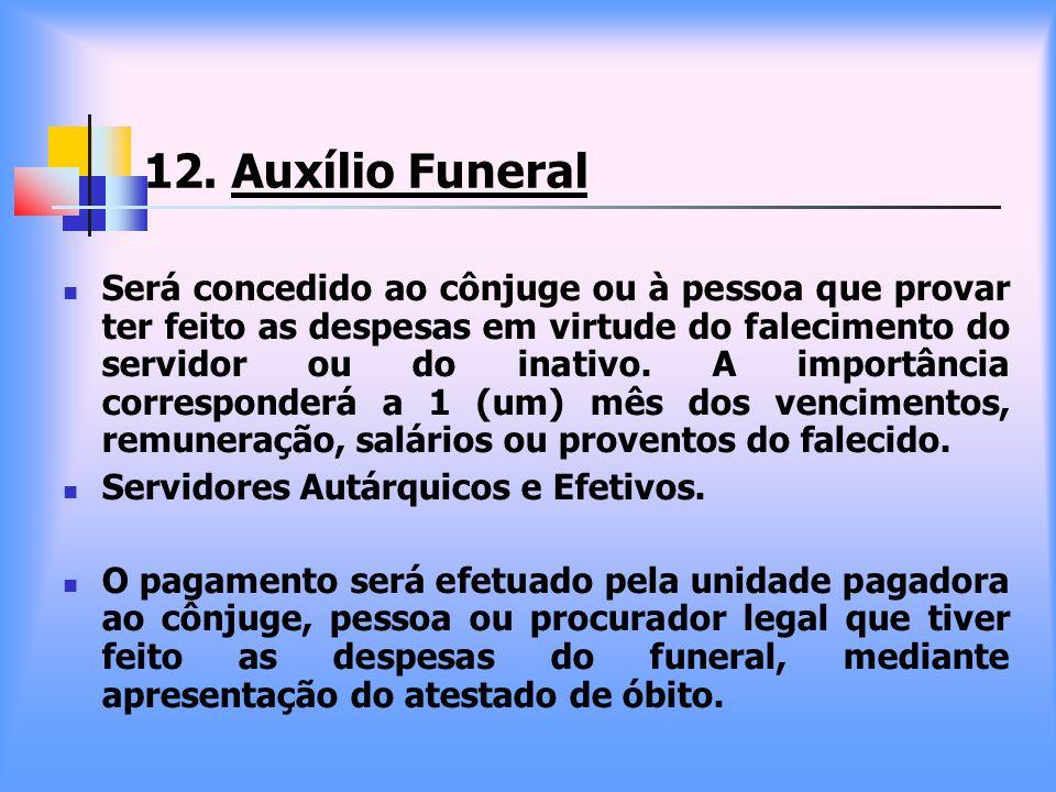 12. Auxílio Funeral