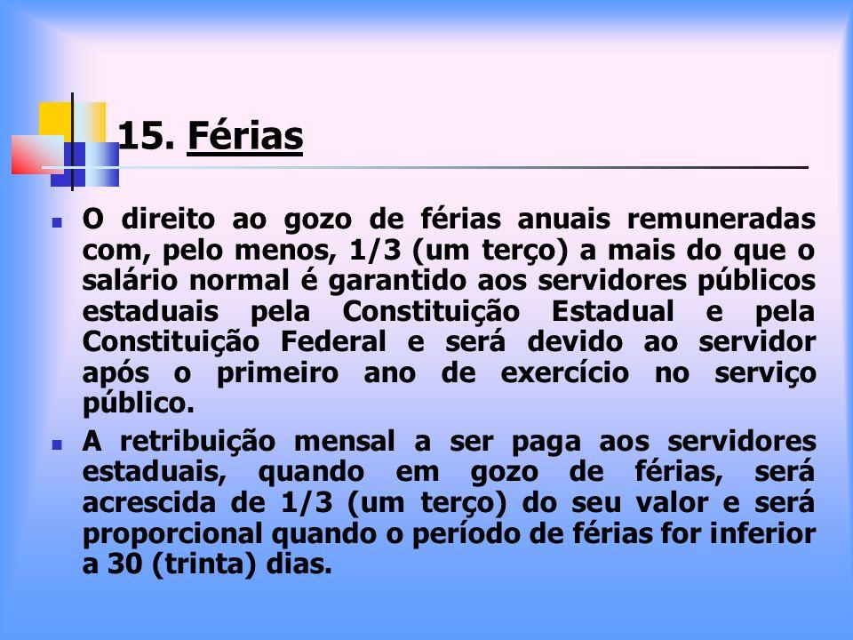 15. Férias