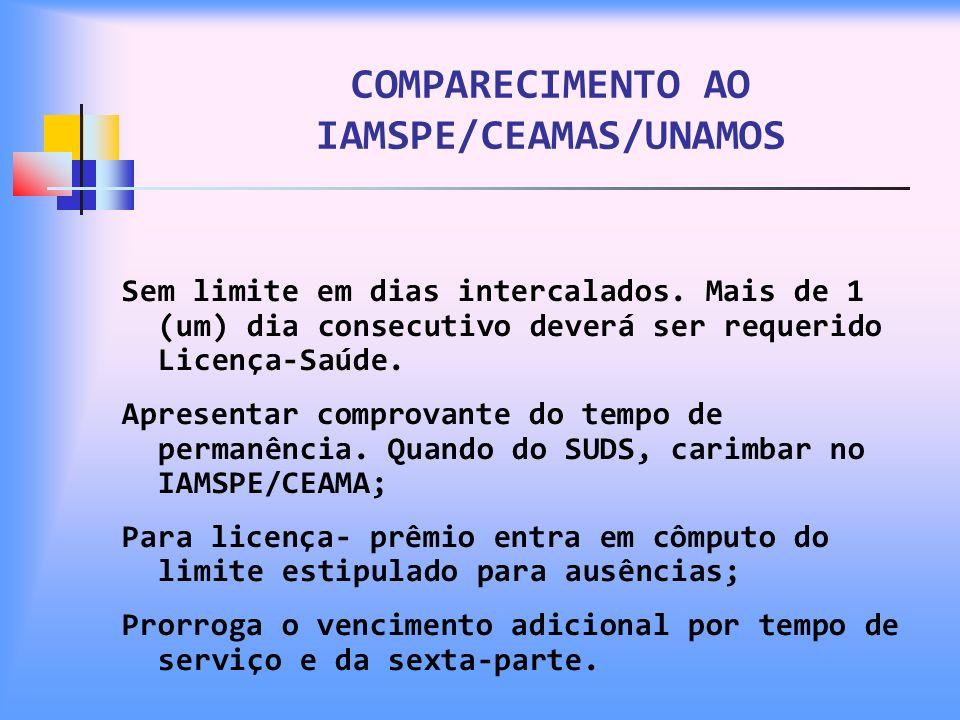 COMPARECIMENTO AO IAMSPE/CEAMAS/UNAMOS