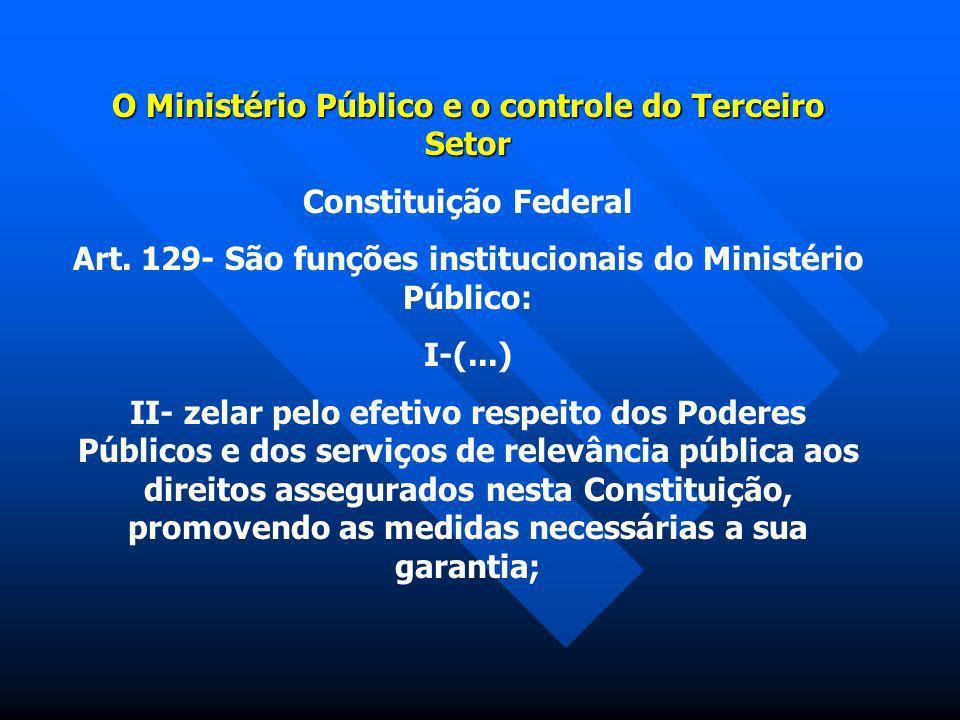 O Ministério Público e o controle do Terceiro Setor