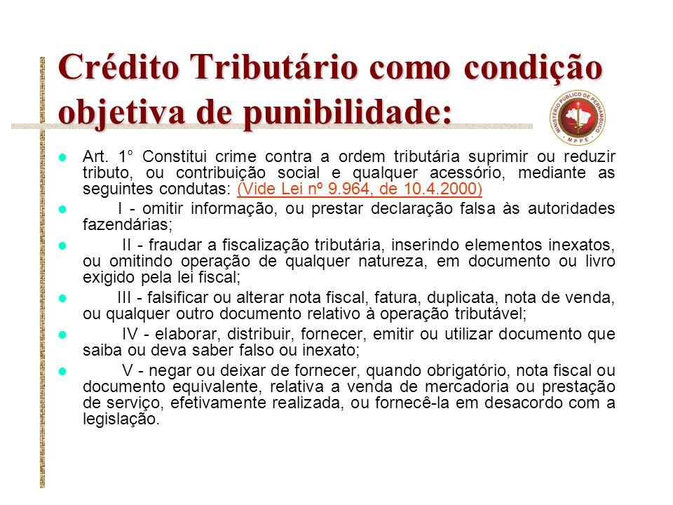 Crédito Tributário como condição objetiva de punibilidade: