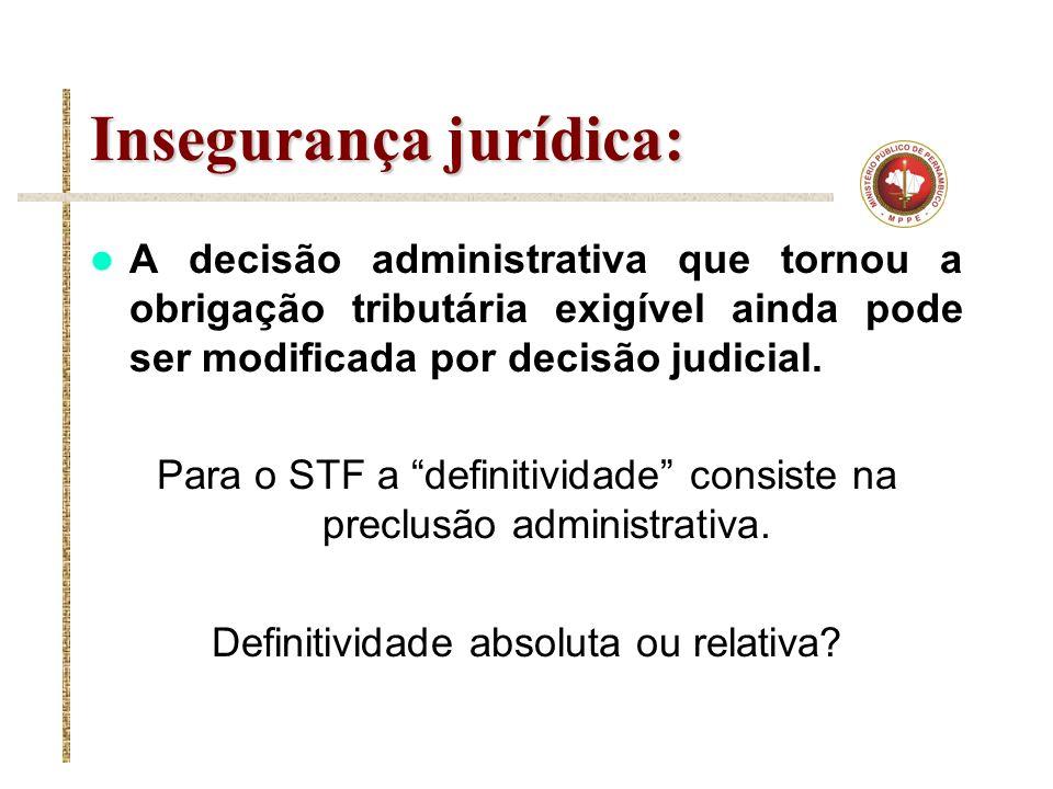 Insegurança jurídica: