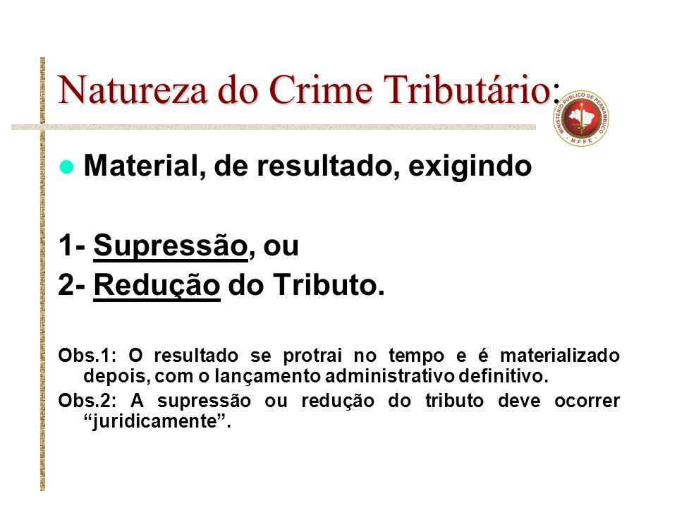 Natureza do Crime Tributário: