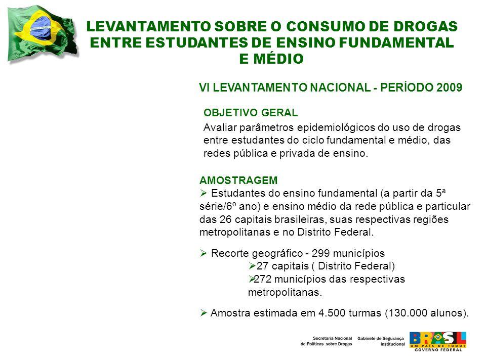 LEVANTAMENTO SOBRE O CONSUMO DE DROGAS ENTRE ESTUDANTES DE ENSINO FUNDAMENTAL E MÉDIO