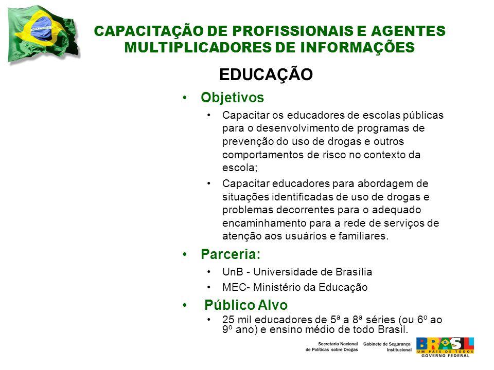 CAPACITAÇÃO DE PROFISSIONAIS E AGENTES MULTIPLICADORES DE INFORMAÇÕES