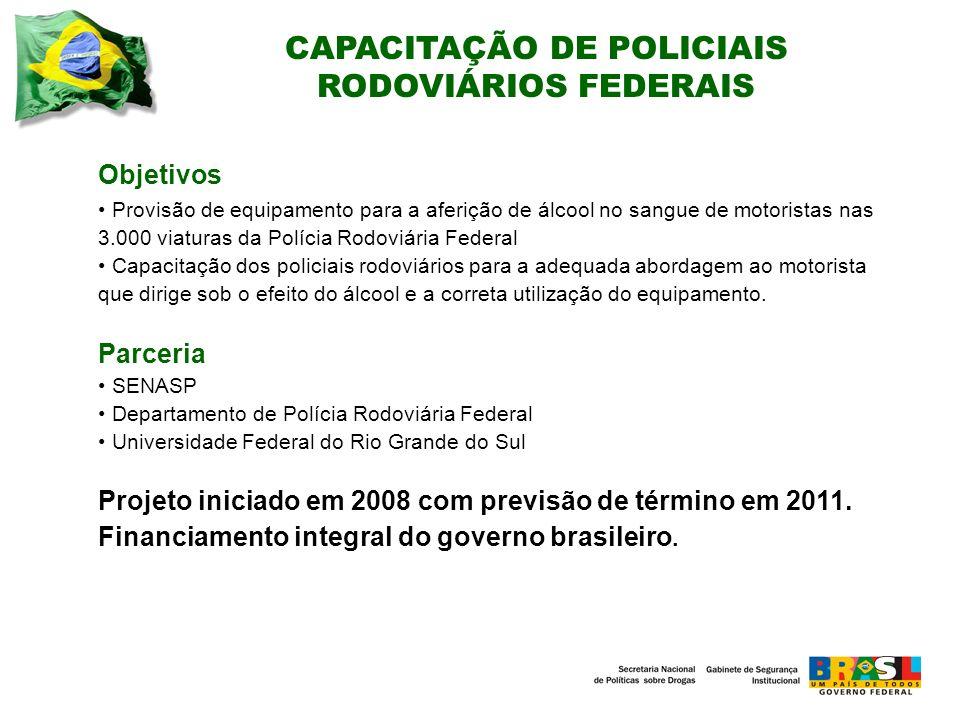 CAPACITAÇÃO DE POLICIAIS RODOVIÁRIOS FEDERAIS