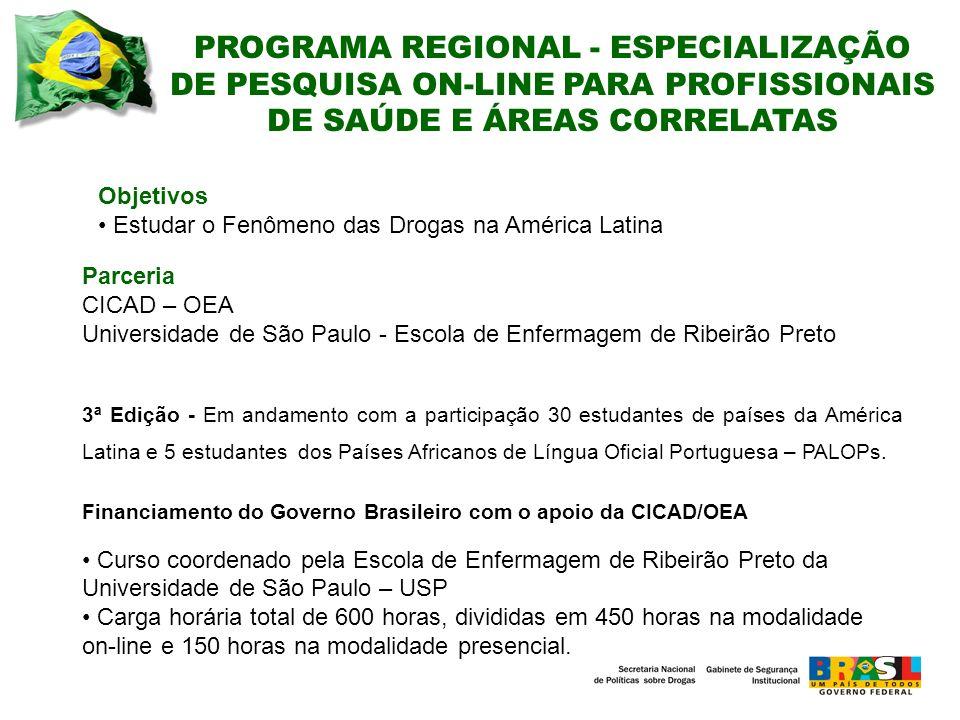 PROGRAMA REGIONAL - ESPECIALIZAÇÃO DE PESQUISA ON-LINE PARA PROFISSIONAIS DE SAÚDE E ÁREAS CORRELATAS