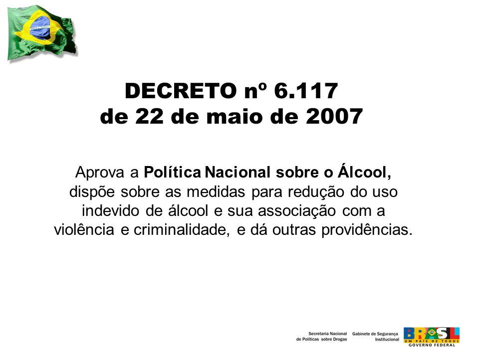 Aprova a Política Nacional sobre o Álcool,