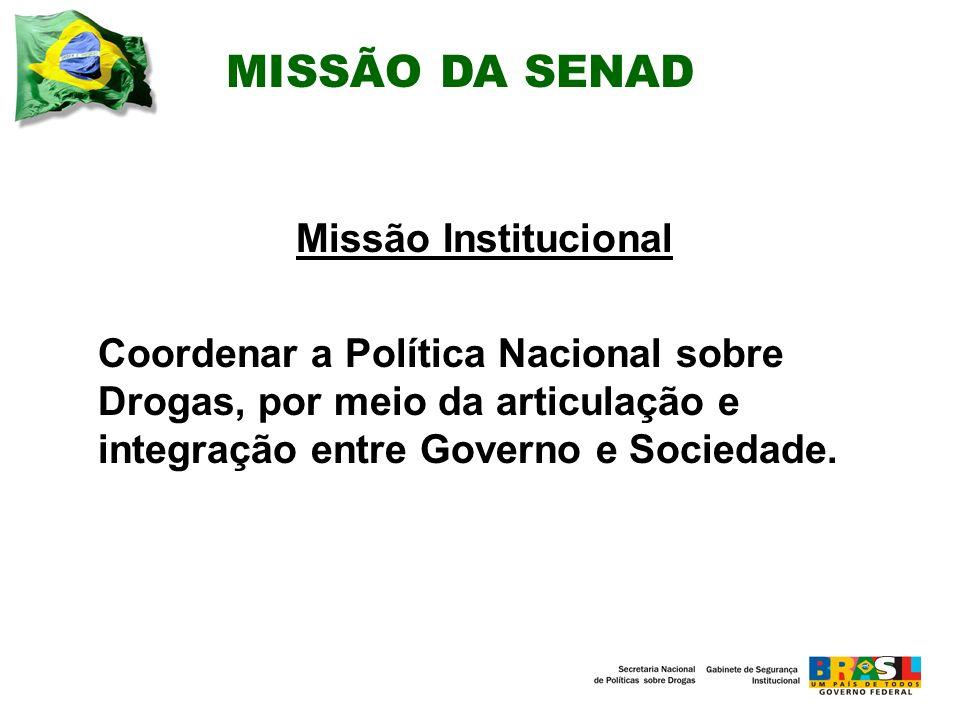 MISSÃO DA SENAD Missão Institucional