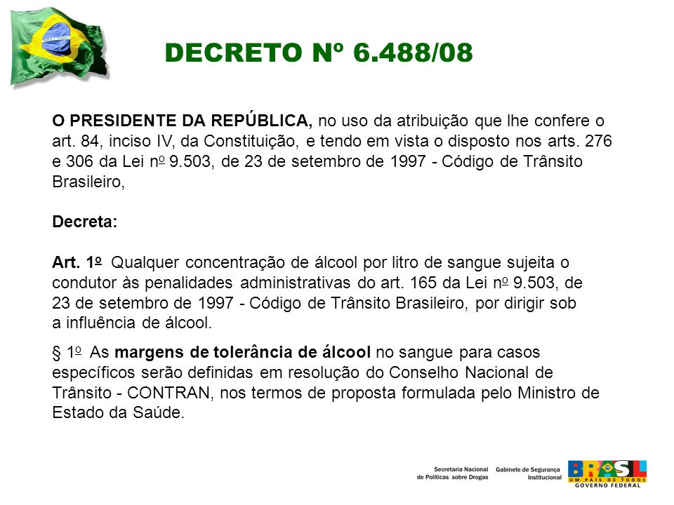DECRETO Nº 6.488/08